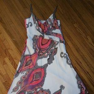 Multi-color Spaghetti strap summer dress